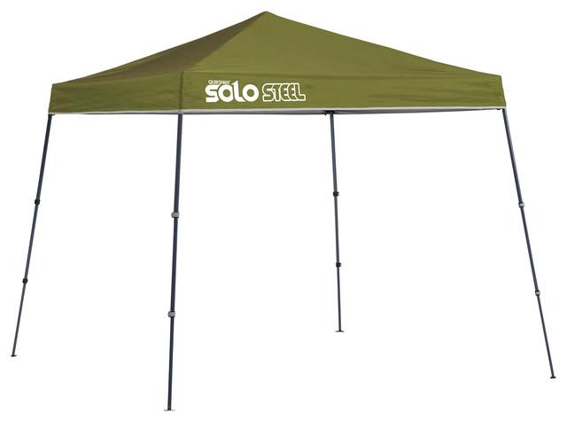 Solo Steel 50 9&x27;x9&x27; Slant Leg Canopy, Olive.