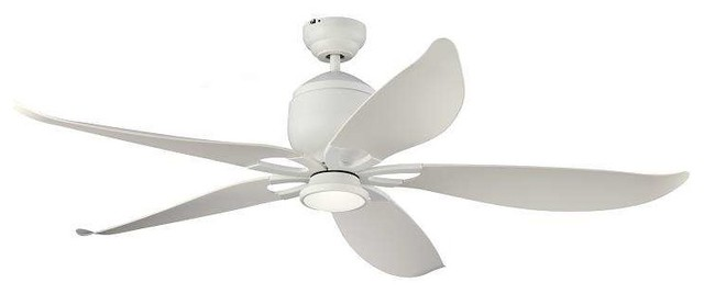 Monte carlo 5llr56 lily 56 ceiling fan transitional ceiling monte carlo 5llr56rzwd lily 56 ceiling fan rubberized white aloadofball Gallery