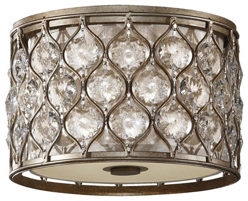 Murray Feiss Lucia Flush Mount, Burnished Silver.