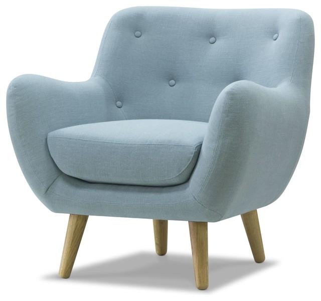 poppy meuble fauteuil esprit seventies en tissu bleu ciel r tro fauteuil par alin a. Black Bedroom Furniture Sets. Home Design Ideas
