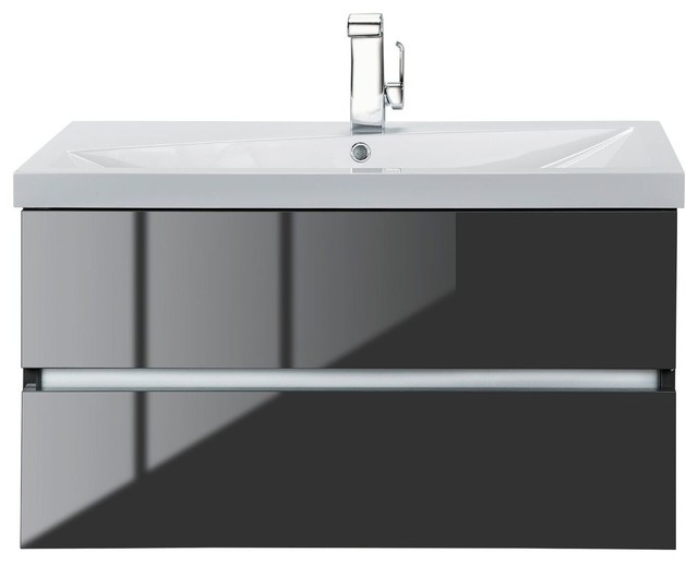 sangallo wall mounted vanity high gloss lava gray modern bathroom vanities
