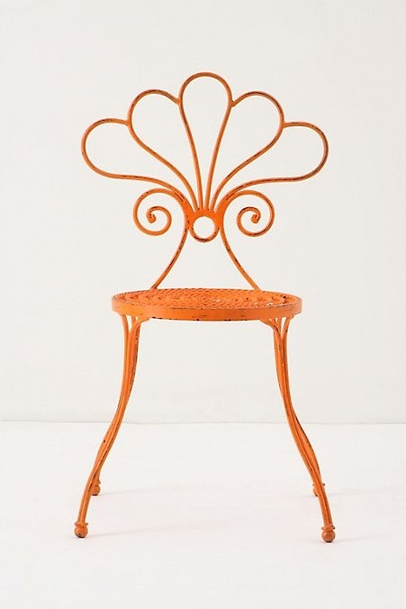 Le Versha Chair, Orange eclectic outdoor chairs