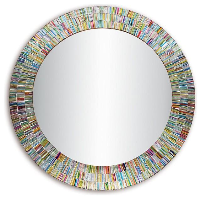 Decorshore Bohemian Rainbow Rhapsody Wall Mirror Glass
