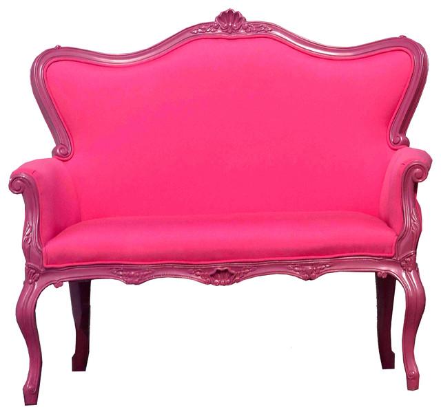 Elizabeth Polyurethane Love Seat.