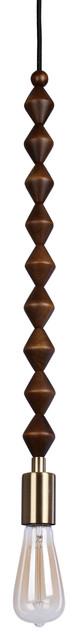 Catalina Lighting Trek Diamond Beaded Swag Pendant, In Mid-Tone Wood.
