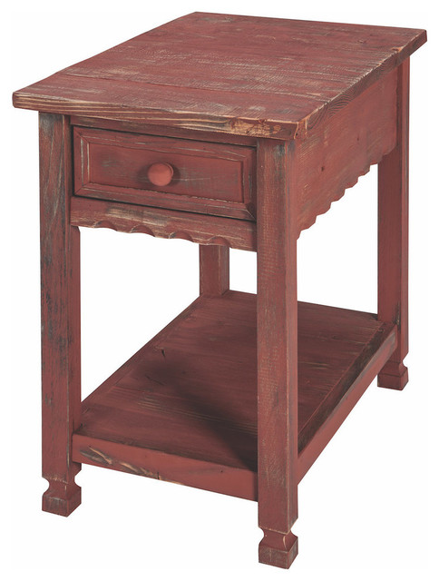 Country Cottage Chairside Table Farmhouse Side Tables