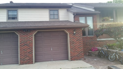 What color should i paint the garage doors for Should plantation shutters match trim