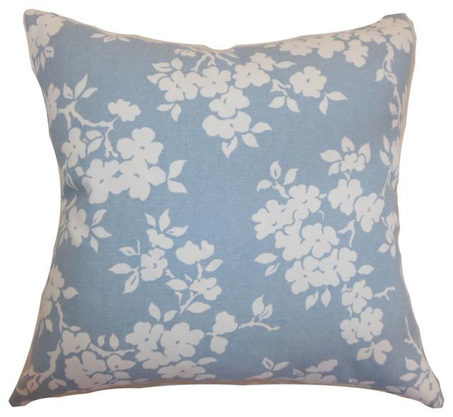 Vieste Floral Bedding Sham Sky Blue Euro Sham 26 Quot X26