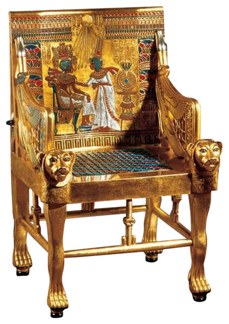 Amazing King Tutankhamens Egyptian Throne Chair Ocoug Best Dining Table And Chair Ideas Images Ocougorg