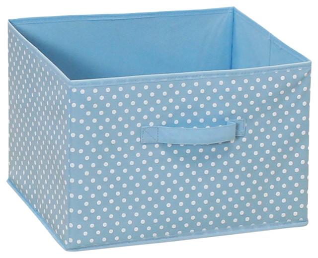 Furinno Laci Small Dot Soft Storage Bin, Blue.