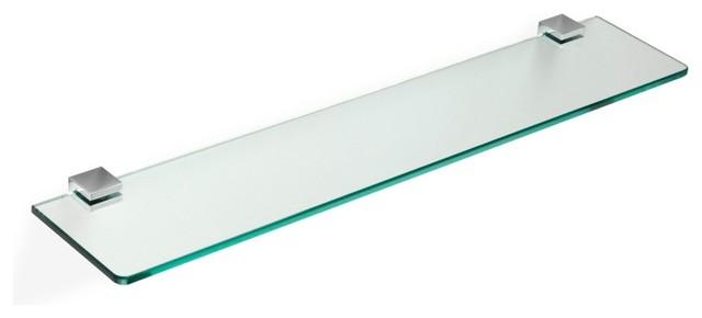 24 Glass Bathroom Shelf Contemporary Bathroom Shelves By Thebathoutlet