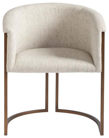 Kermit Upholstered Back Arm Chair Set Of 2 Transitional Dining Chairs By Virgil Stanis Design