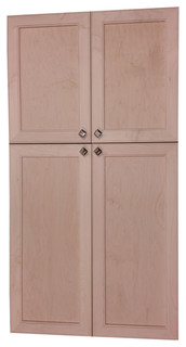 "Village SQ on the Wall 4-Door Frameless 18/34 Pantry Cabinet, 5.5""x55"""