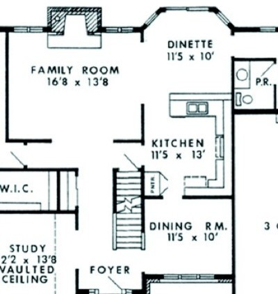 Kitchen dining family room layout for Dining room layout