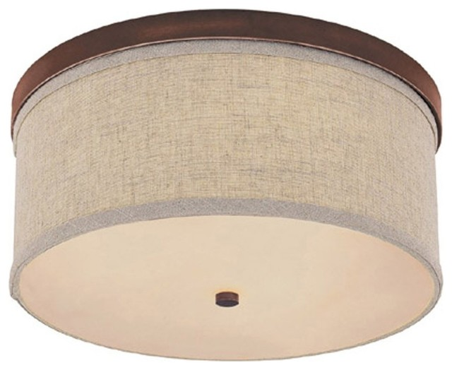Midtown 3-Light Ceiling Fixture In Burnished Bronze.