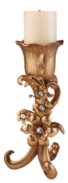 """12"""" Athena Bronze Candleholder"""