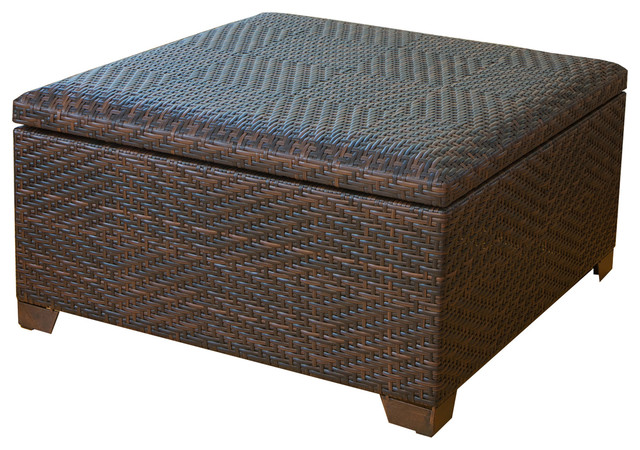 Beau Castiac Xl Outdoor Wicker Storage Ottoman