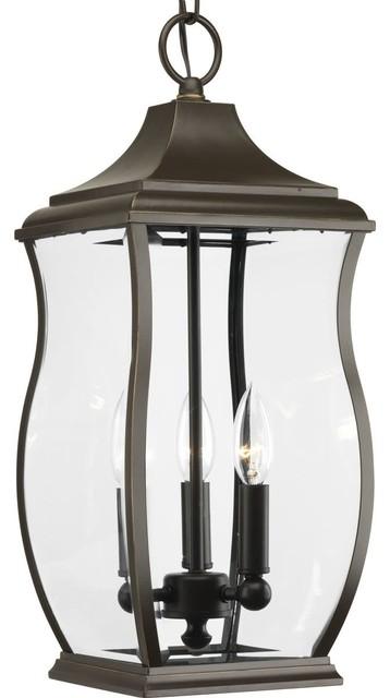 Progress Lighting P5504 Township 3 Light Lantern Outdoor Pendant