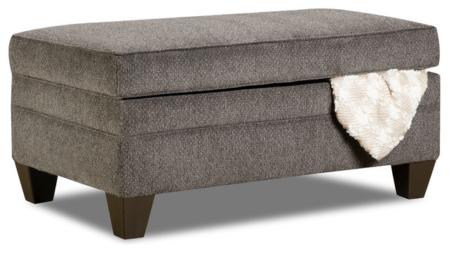 Simmons Upholstery Albany Storage Ottoman Transitional