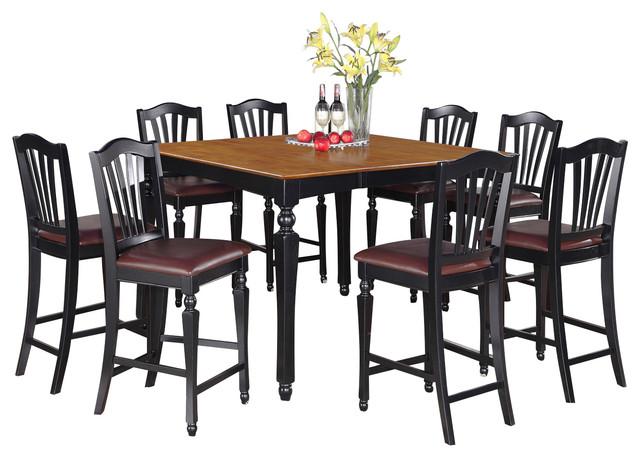 chel blk kitchen table set traditional indoor pub and bistro sets by dinette4less. Black Bedroom Furniture Sets. Home Design Ideas