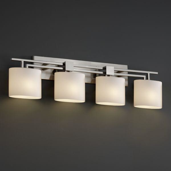 Justice Design Fsn 8704 30 Opal Nckl Aero 4 Light Bath Bar Fusion Collection