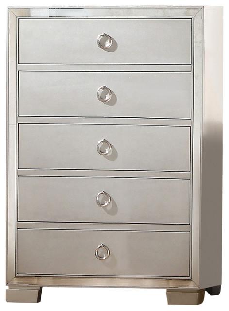 Marquis Mirrored Bathroom Dresser, Platinum.