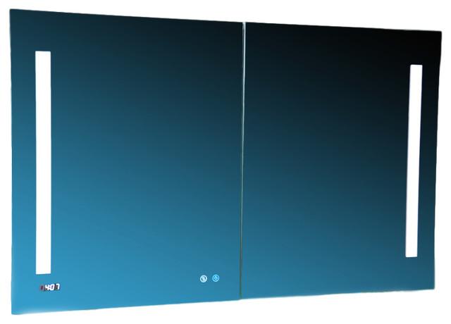 """Aquadom 48"""" X 30"""" Signature Royale 3d Led Lights Medicine Cabinet/defogger."""