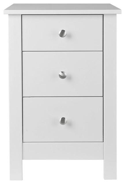 Florence Bedside Cabinet, White