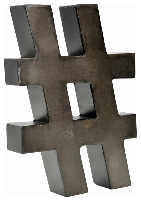 "Metal Letter On 12"" High, Raw Metal Finish."