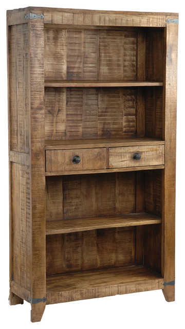 Bengal Manor Mango Wood Bookcase Rustic Bookcases By