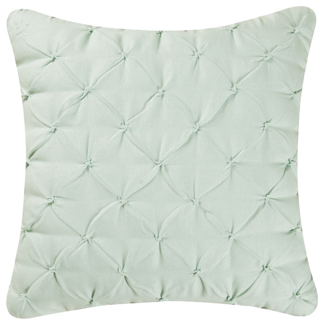 Blue And Gray Throw Pillows Part - 27: Diamond Tuck Feather Down Pillow, Light Blue Contemporary-decorative-pillows
