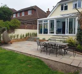 Weathered Sandstone Patio - Colehill