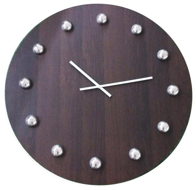Oversized 30 Wooden Gallery Wall Clock Modern Wall Clocks