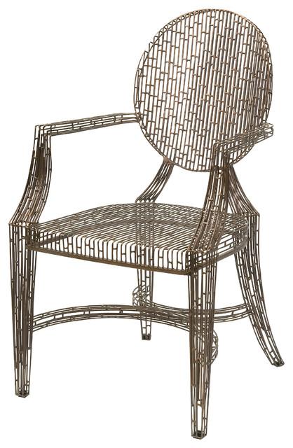 Wilkins Handcrafted Metal Arm Chair.