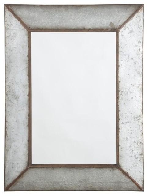 Industrial Wall Mirror o'tallay decorative mirror, antique gray - industrial - wall