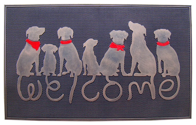 Superb U201cWelcomeu201d Rubber Doormat Contemporary Doormats