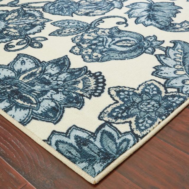 Arranged Melody Blue Rug, 5'x8'
