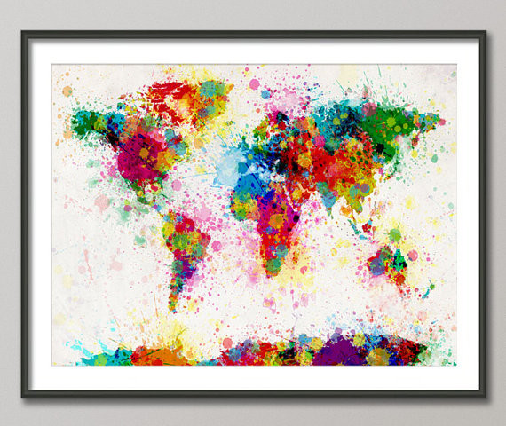 Paint Splashes Map Of The World Map By Art Pause