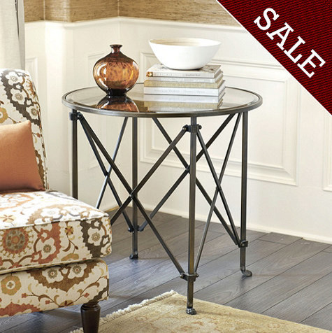Olivia 30-inch Round Mirrored Side Table