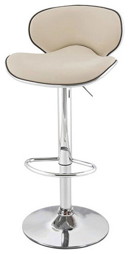 Kappa Contemporary Adjustable Bar Stools, Cafe Latte, Set Of 2 Contemporary  Bar