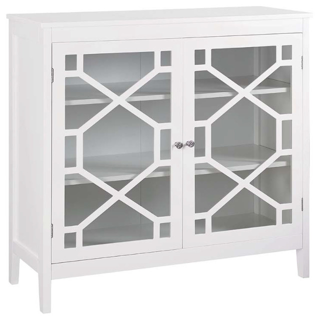 Odetta Accent Cabinet, White, Large