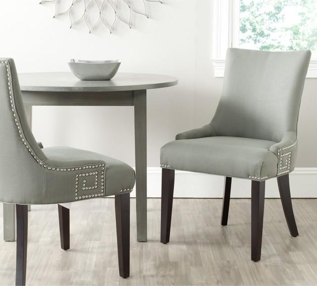 safavieh gretchen granite linen fabric side chair set of