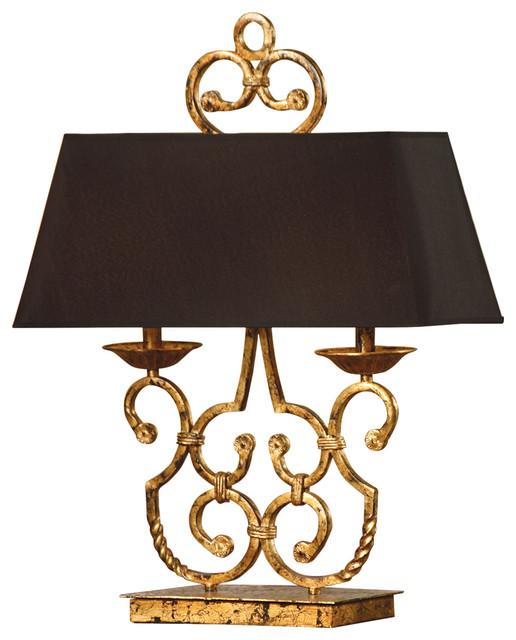 Crestview Collection CVACR164 Charleston Twin Light Lamp