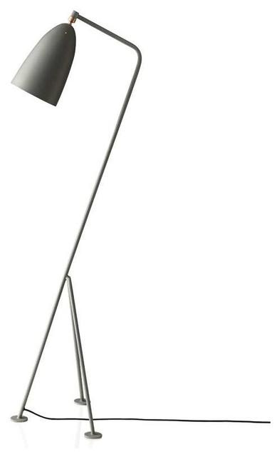 Frigid Floor Lamp, Silver Leaf And Black Matte