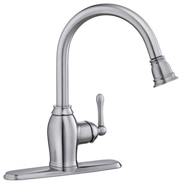 ez flo kitchen faucet pull out spray kitchen faucets houzz shop houzz kissler dominion kitchen faucet without spray