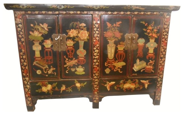 Oriental furnishings club inc 5 legged chinese five for Hand painted oriental furniture