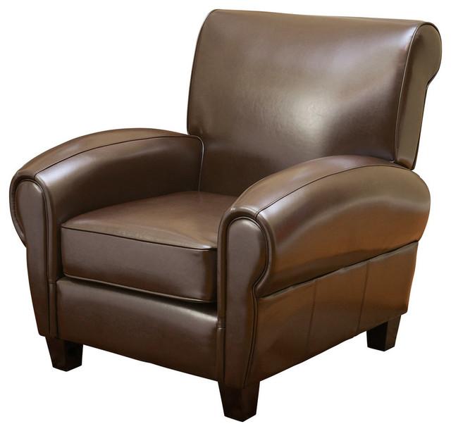 Chocolate Brown Accent Chairs.Gdf Studio Ridgemark Chocolate Brown Leather Club Chair