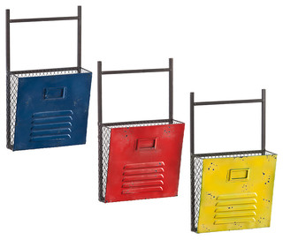 Houtes 3-Piece Wall File Holders - Industrial - Filing Cabinets - by SmartFurniture
