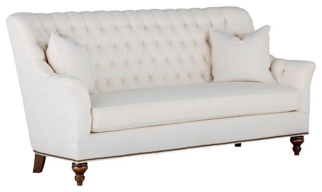 Gabby Abbey Tufted Back Sofa, Cream Zulu Vanilla Traditional Sofas