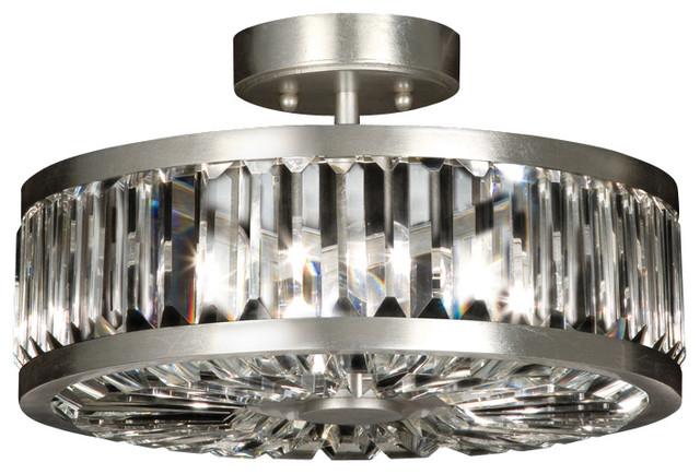 Crystal Semi Flush Mount Lighting: Fine Art Lamps Crystal Enchantment Semi-Flush Mount, 815740ST midcentury- flush-mount,Lighting